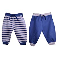 Baby Boys Joggers 2 Pack Newborn Toddlers Loungewear Trousers 100% Cotton 3-18 Months