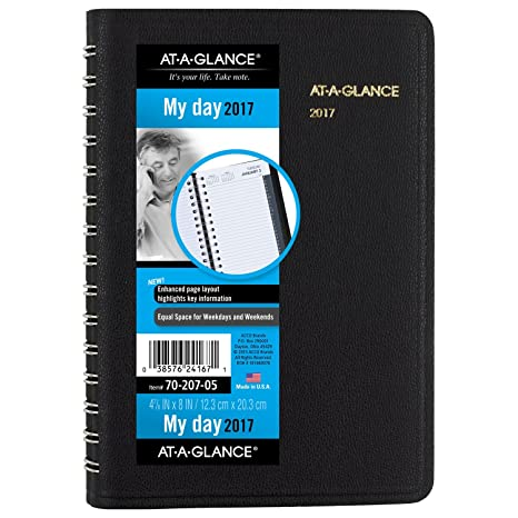 amazon com at a glance daily appointment book planner 2017