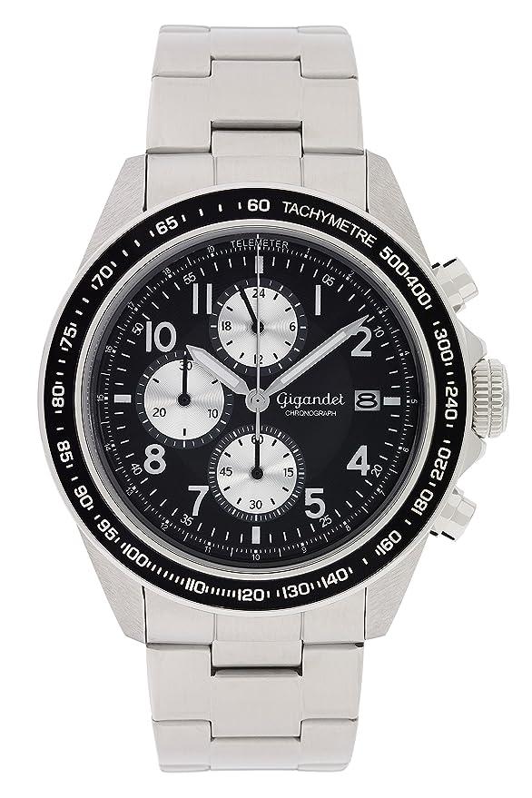 Gigandet Herren Uhr Quarz Chronograph Edelstahl 001 Mit Armband G24 AjSRL35c4q