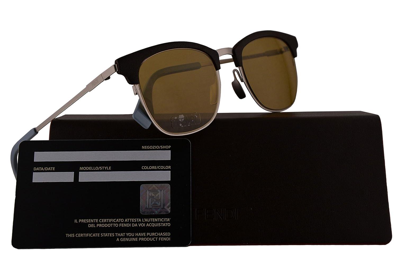 9376cf5601 Amazon.com  Fendi FF0228 S Sunglasses Brown Silver w Brown 50mm Lens 4ES70  FF0228S FF 0228S FF 0228 S  Clothing
