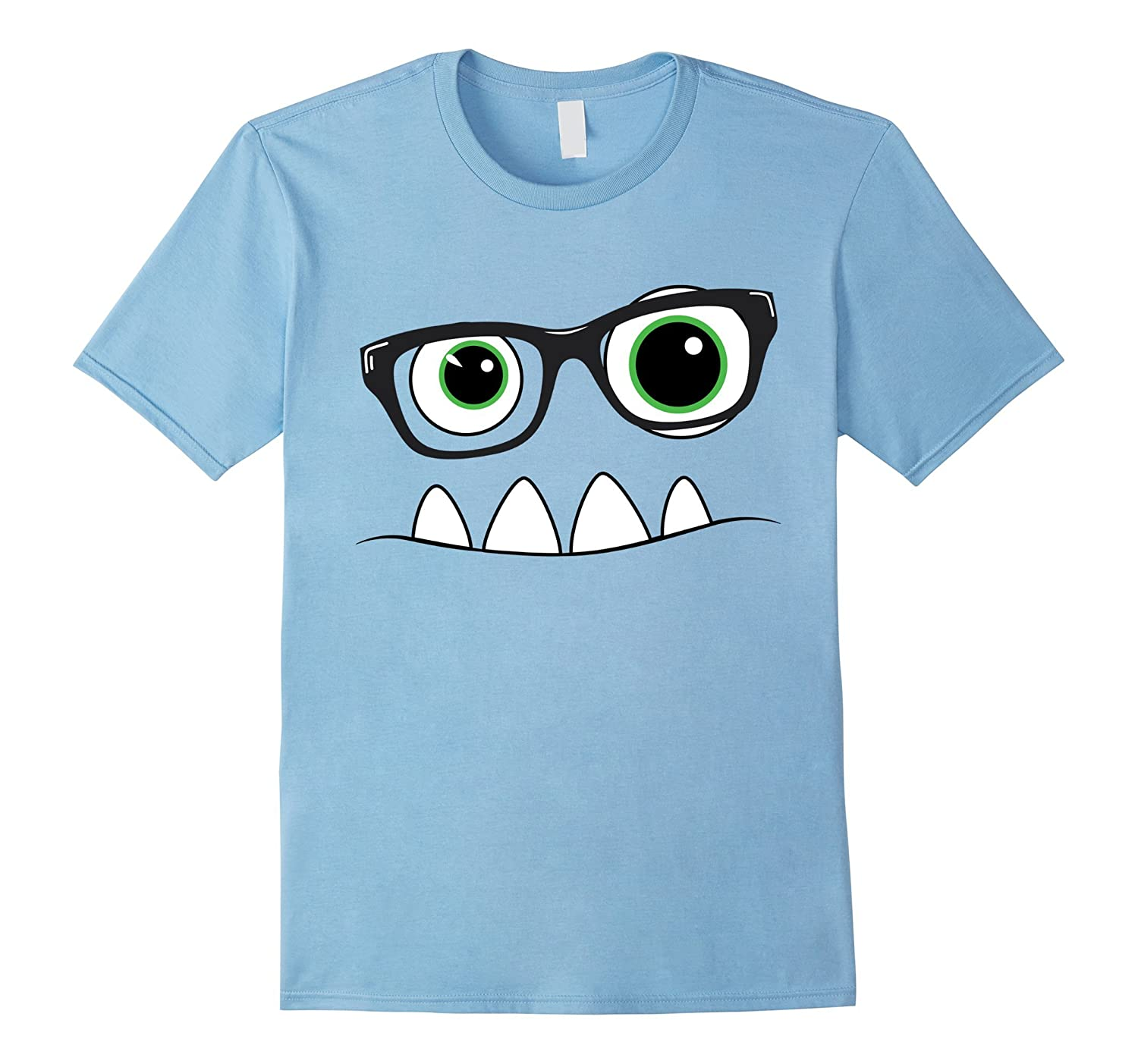 sc 1 st  Rateeshirt & Monster Face Nerd Halloween Costume T Shirt Funny Kids Gifts-RT ...