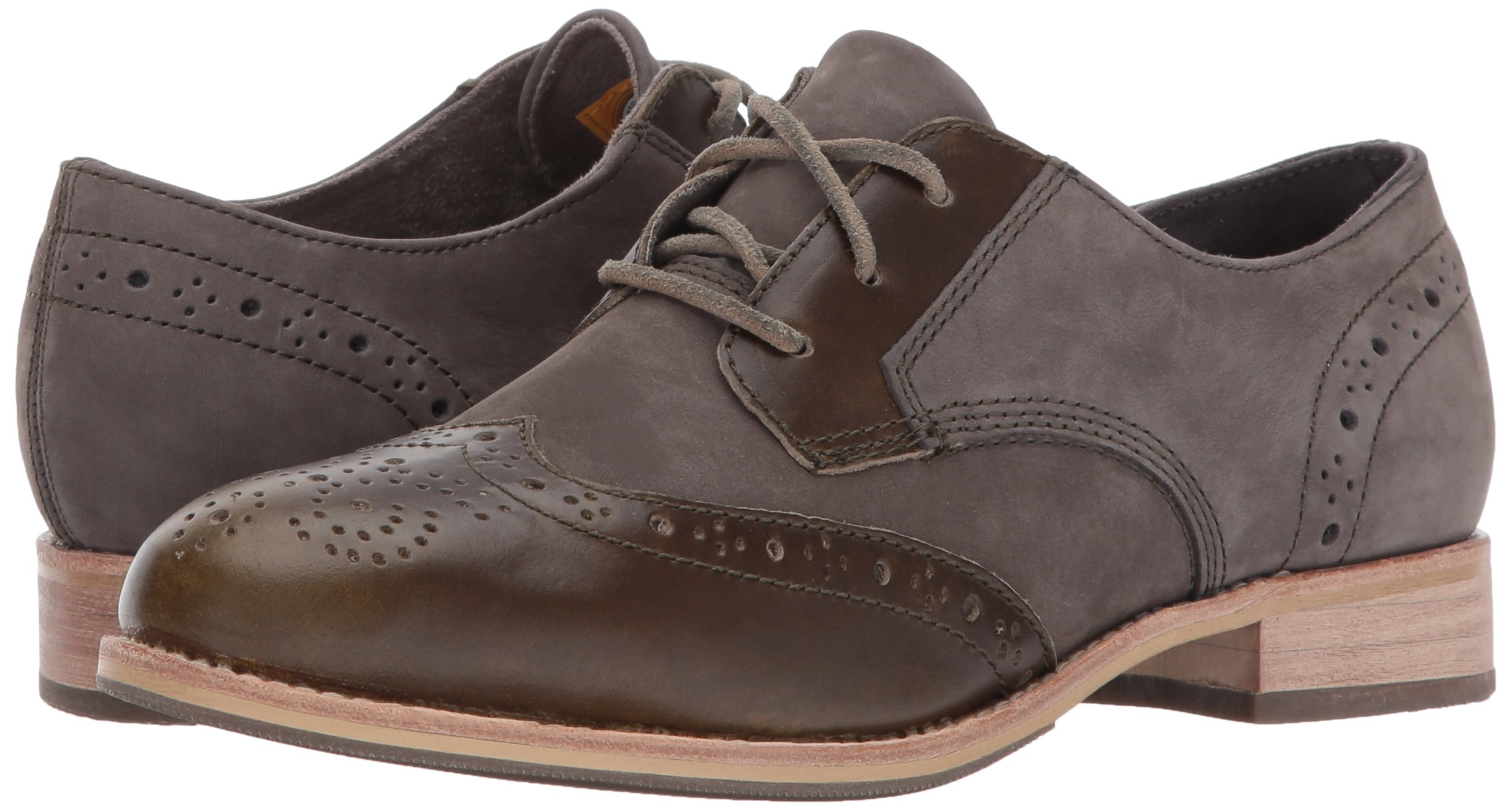 Caterpillar Women's Reegan II Lace up Leather Oxford, Olive, 5.5 Medium US by Caterpillar (Image #6)