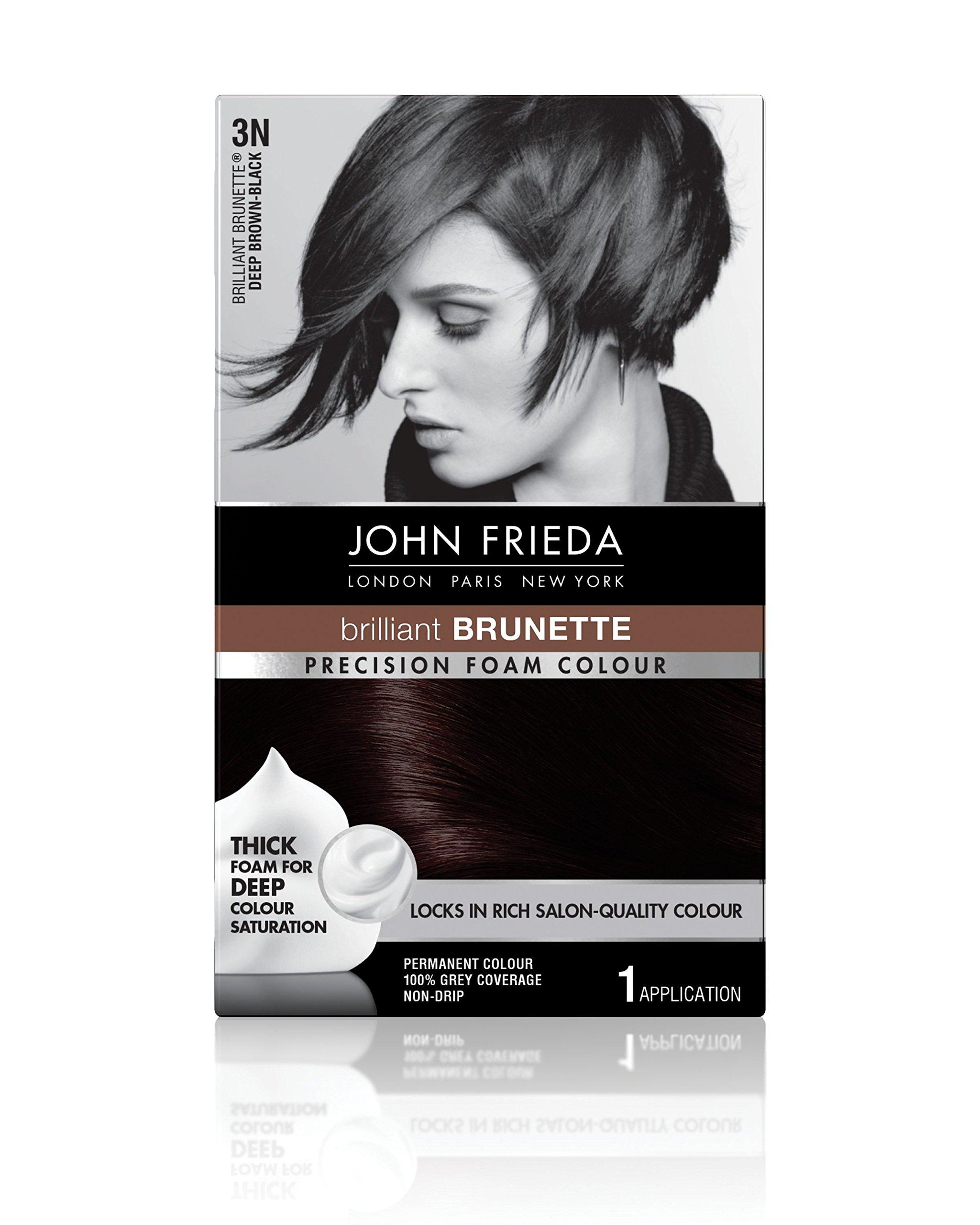 Frankel & Frankel John Frieda Precision 3n Foam Permanent Colour, Deep Brown Black - Kit, 2.4 Oz by John Frieda