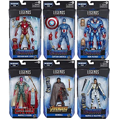 Avengers: Endgame Marvel Legends Wave 3 Set of 6 Figures (Thor BAF): Toys & Games