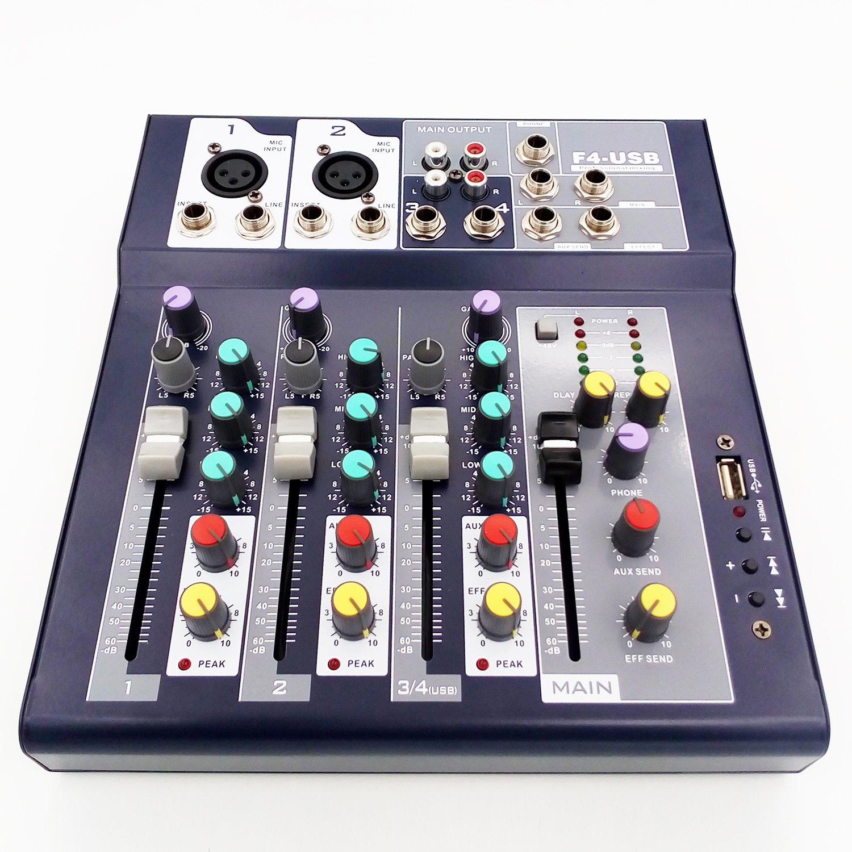 weymic professional mixer 4 channel 2 bus with usb input 48v phantom power 22500806319 ebay. Black Bedroom Furniture Sets. Home Design Ideas