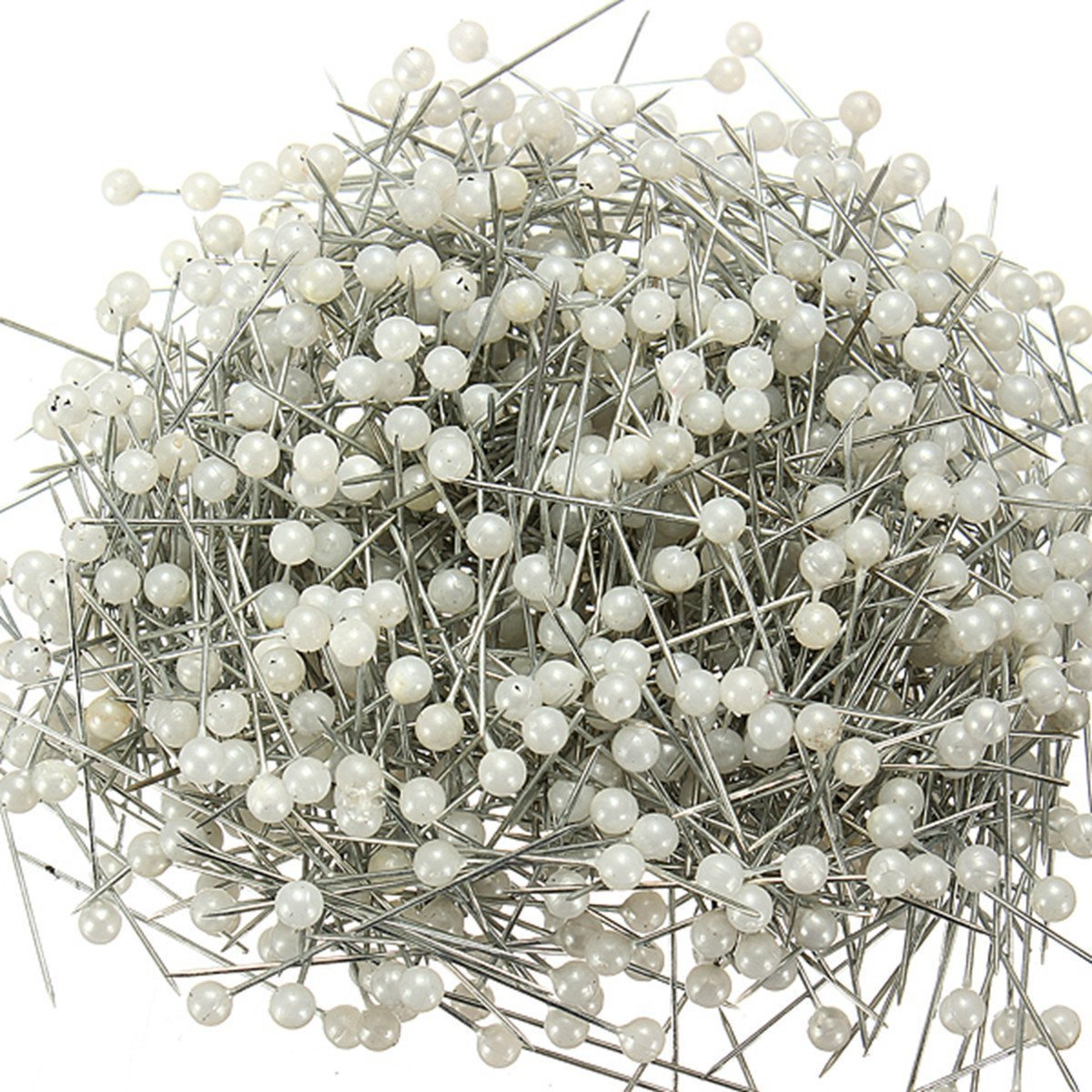 Freedi 480 Pcs Dressmaking Sewing Straight Pins Weddings Corsage Florists Needles with Pearl Round Ball Head White