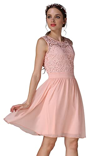 Prom Party Cocktail Chiffon Lace Bodycon Sleeveless Dress Xuerry
