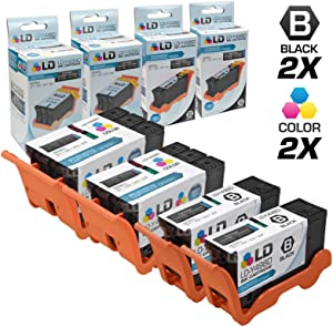 LD Compatible Ink Cartridge Replacement for Dell V313 Series 21 (2 Black, 2 Color, 4-Pack)