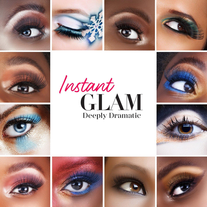 Amazon.com: Instant Glam Deeply Dramatic Premium Eyelashes, False Fake Eyelashes, Eyelash Extensions, Fancy individual Package (6-PACK, 110): Beauty