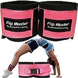 Flip Master Ankle Straps Tumbling Trainer | Gymnastics & Cheerleading Equipment For Back Flip/Tuck & Handspring Form | Adjust