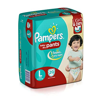 35db833f9f3 Buy Pampers Large Size Diaper Pants (20 Count) Online at Low Prices in  India - Amazon.in