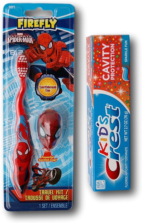 FireFly Barbecue Kit de Cepillo de Dientes y Pasta de Dientes de Marvel Ultimate Spider-Man: Amazon.es: Juguetes y juegos