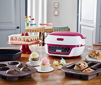 tefal cake factory cake maker white pink kd801840 easy baking