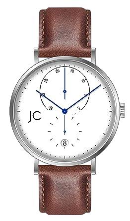 ae271b6d5b4b5d Jean Constantine Montre automatique pour homme, montre-bracelet pour homme  avec bracelet en cuir