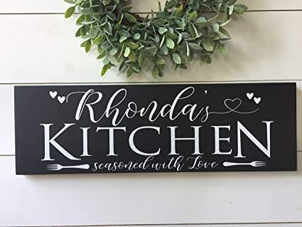 Amazon.com MarthaFox Custom Kitchen Signs Wall Decor