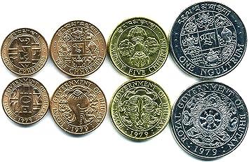 Monedas coleccionables de países de Asia Más de 50 países asiáticos. Monedas extranjeras Antiguas para la Recogida de Monedas, Bhután 4 Monedas Set UNC: Amazon.es: Juguetes y juegos