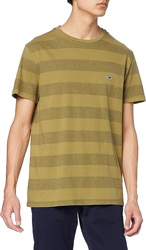 TALLA L. Tommy Jeans TJM Bold Stripe tee Camiseta para Hombre