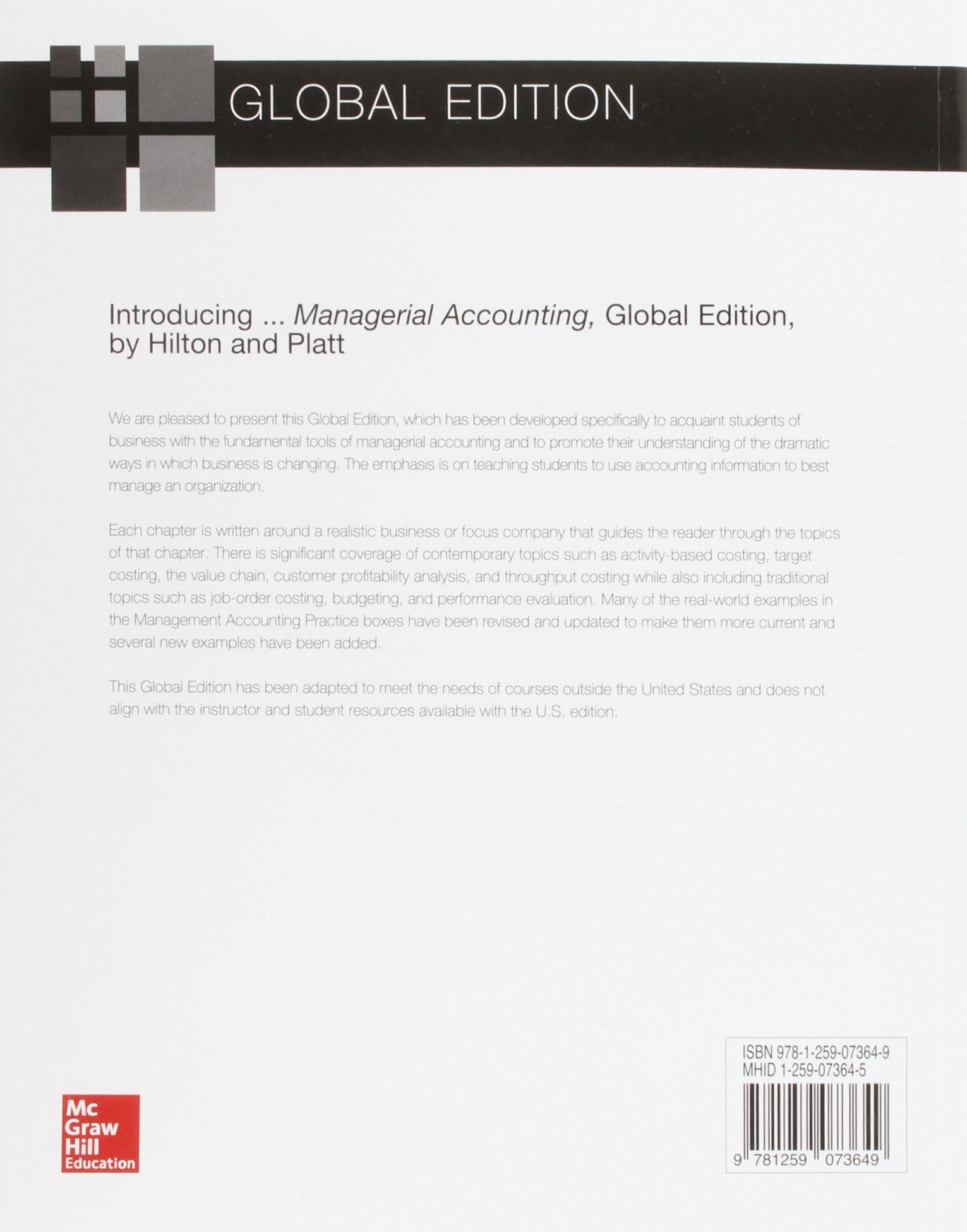 Managerial accounting asia higher education business economics managerial accounting asia higher education business economics accounting ronald w hilton proffesor prof 9781259073649 amazon books fandeluxe Choice Image