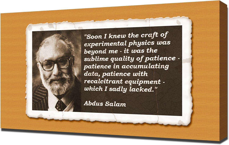 Canvas Portrait of Abdus Salam Art print POSTER