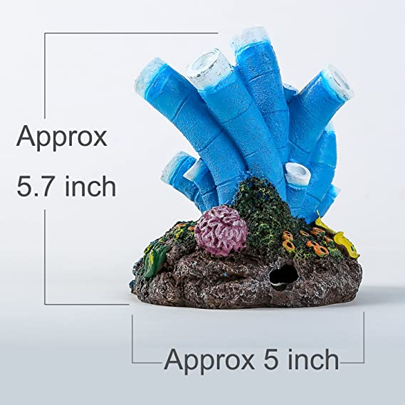 Amazon.com : SLSON Aquarium Air Bubble Stone Ornament Blue Coral Starfish Bubbler Oxygen Pump Resin Crafts for Fish Tank Decorations : Pet Supplies