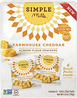 product image for Simple Mills Almond Flour Cracker Snack Pack, Farmhouse Cheddar, 4.9 oz (PACKAGING MAY VARY)
