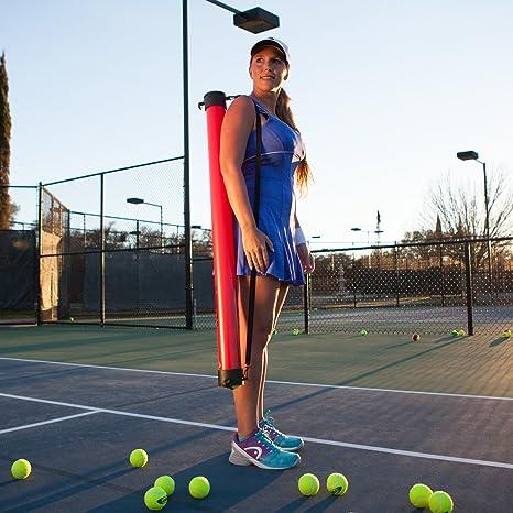 Gamma - Tubo recoge pelotas de tenis, capacidad de 18 ...