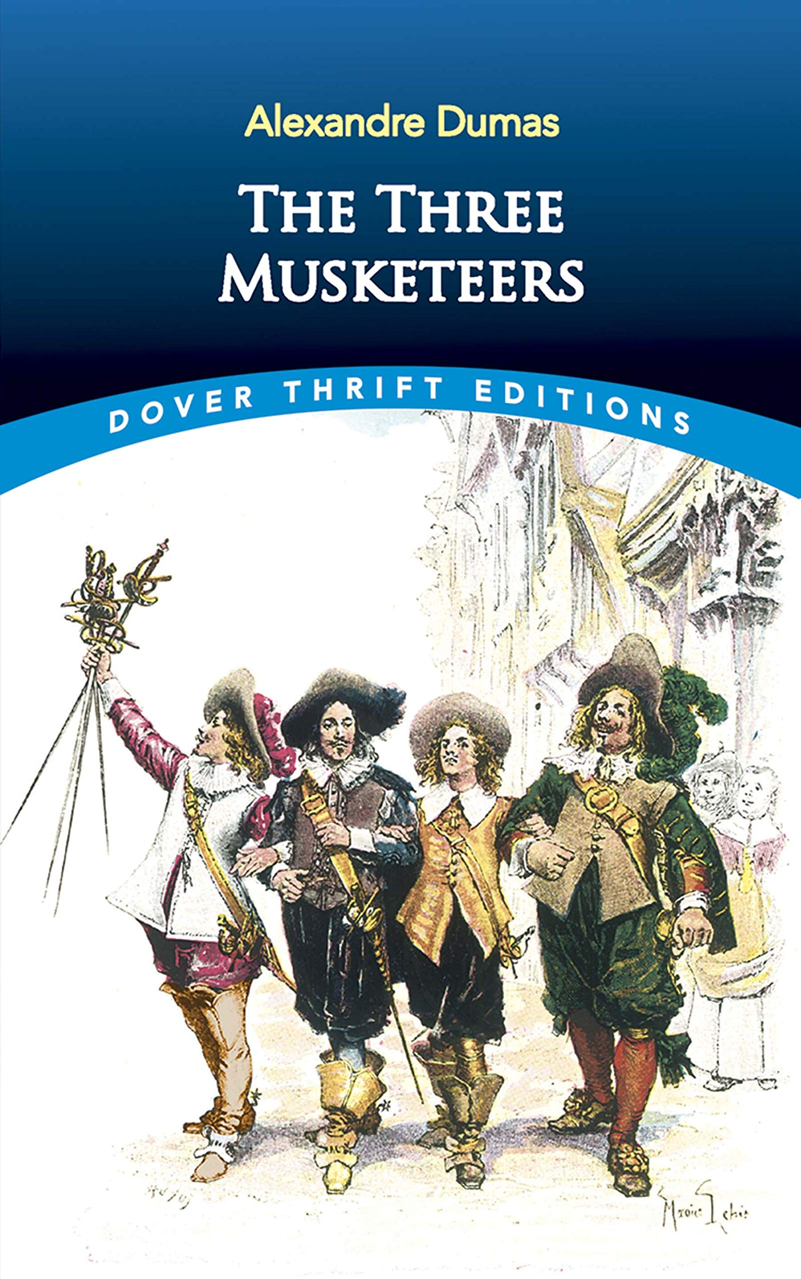 Vintage art prints Gifts for readers Literature illustration prints Classic literature art prints The three musketeers