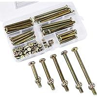 JALAN 60 stuks M6 x 20/30/40/50/60 mm verzinkt binnenzeskant cilinderschroeven schroefmoeren assortimentskit voor…