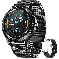 AIMIUVEI Smartwatch, smartwatch, waterdicht 67 inch met touchscreen, hartslagmeter, slaapmonitor, 7 sportmodi…