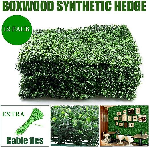Amazon Com Nisorpa 12 Pack Boxwood Hedge Artificial Plants Mat