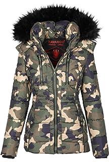 d7a2ac1bb552ce Navahoo Designer Damen Winter Jacke Parka Mantel Teddyfell warm gefüttert  B327