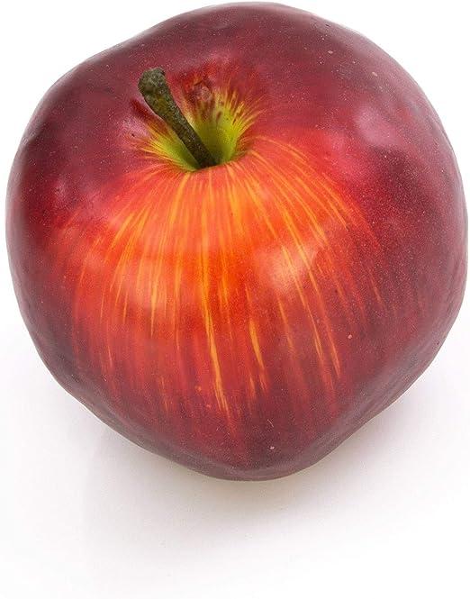 artplants Pomme Rouge fonc/é Artificielle Fruit Plastique//Pomme d/écoration 6 cm /Ø 6,5 cm