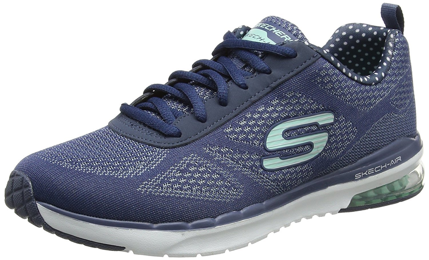31809f7b0b73 Galleon - Skechers Womens Skech-Air Infinity Navy Aqua Cross Trainer - 9.5