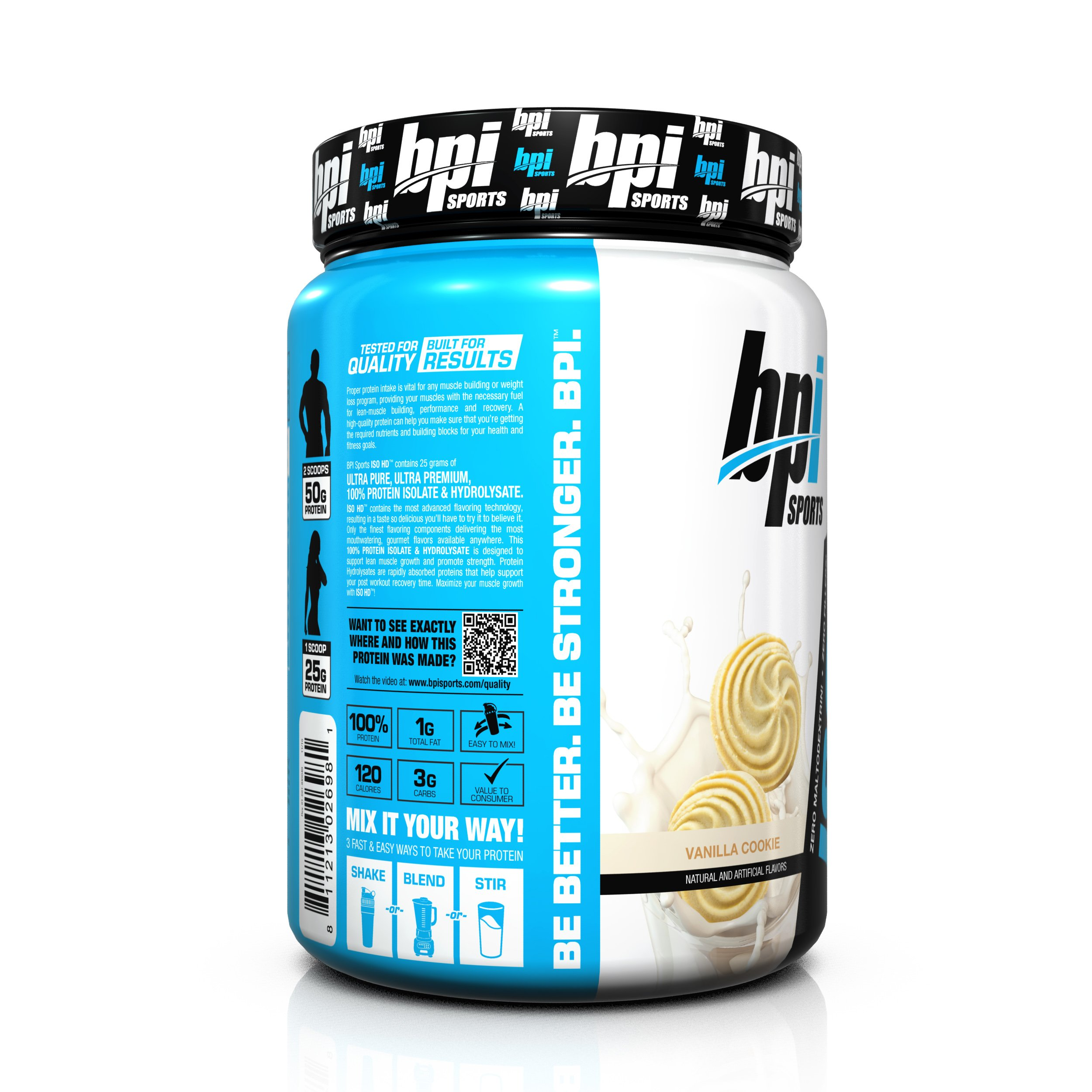 Bpi Sports ISO HD 100% Protein Isolate & Hydrolysate, Vanilla Cookie, 1.7 Pound by BPI Sports (Image #3)