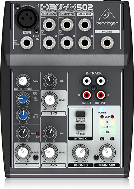 Behringer Xenyx 502 Premium 5-Input 2-Bus Mixer with XENYX Mic ...