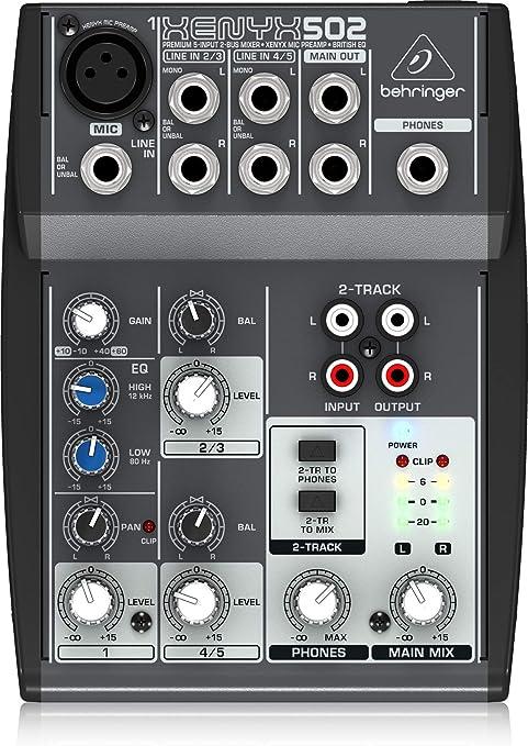 Behringer 502 - Mesa mezclas Xenyx Premium: Amazon.es ...