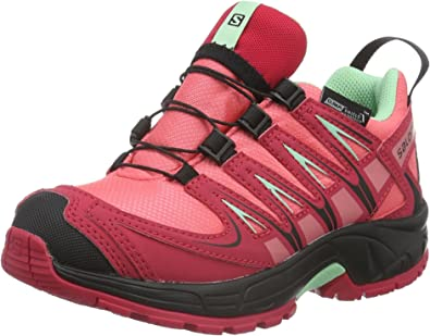 Salomon L37911100, Zapatillas de Trail Running para Niños, Rosa (Madder Pink/Lotus Pink/Lucite Green), 34 EU: Amazon.es: Zapatos y complementos