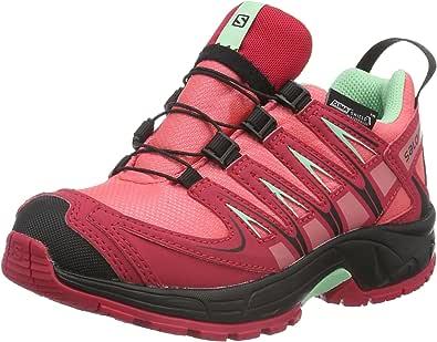 Salomon L37911100, Zapatillas de Trail Running para Niños, Rosa (Madder Pink/Lotus Pink/Lucite Green), 34 EU: Amazon.es: Zapatos y complementos