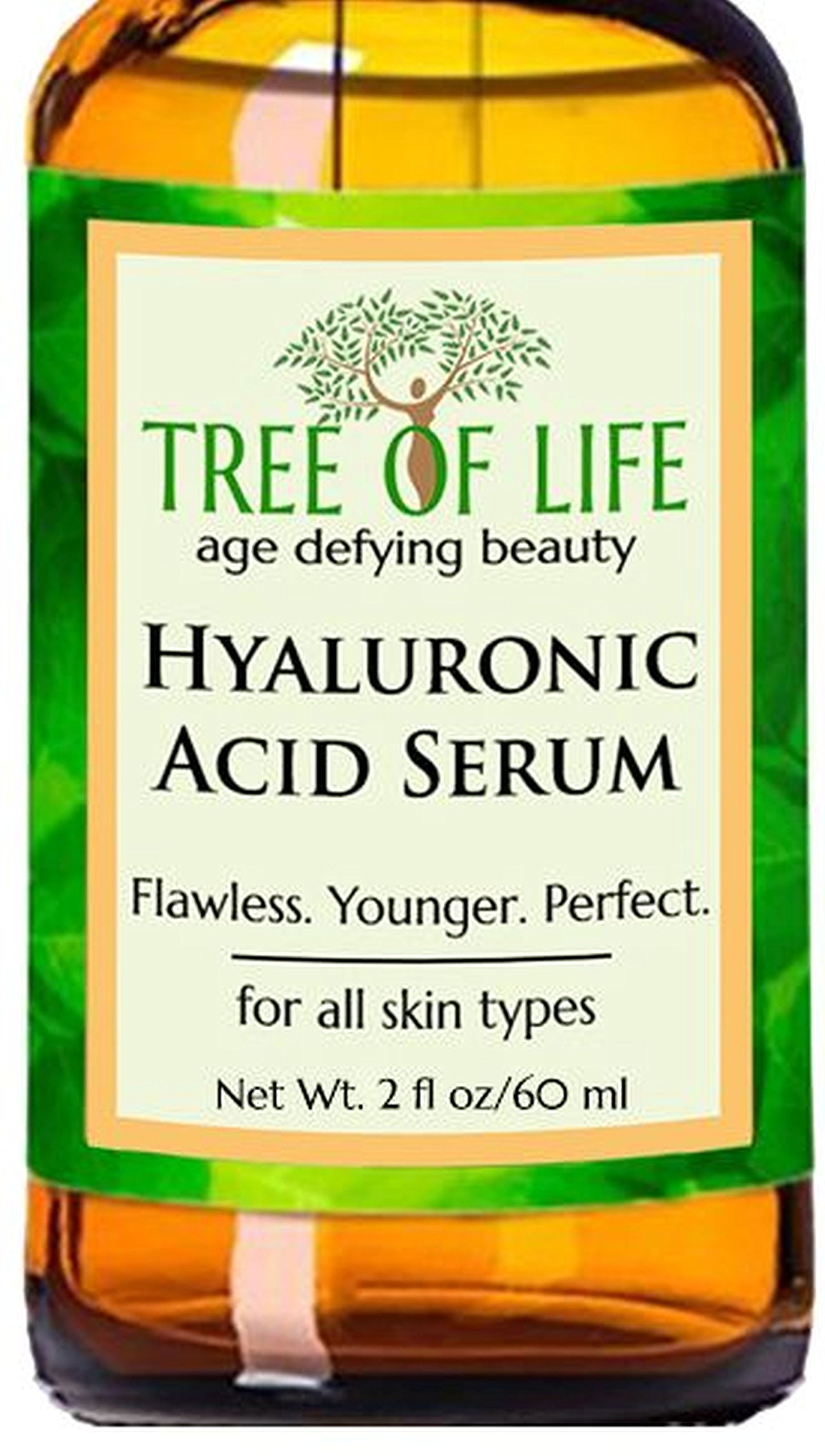 ToLB Hyaluronic Acid Serum for Skin - DOUBLE SIZE 2oz Pure Hyaluronic Acid + Vitamin C and Moisturizing Ingredients - Paraben Free, Vegan - Best Hyaluronic Acid for Facial Care 2 fl oz