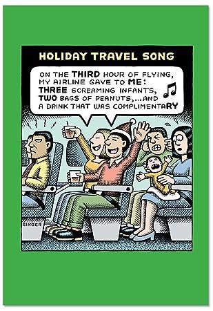 Amazon b2464xsg box set of 12 box of holiday travel song b2464xsg box set of 12 box of holiday travel song christmas cards humor christmas greeting cards m4hsunfo