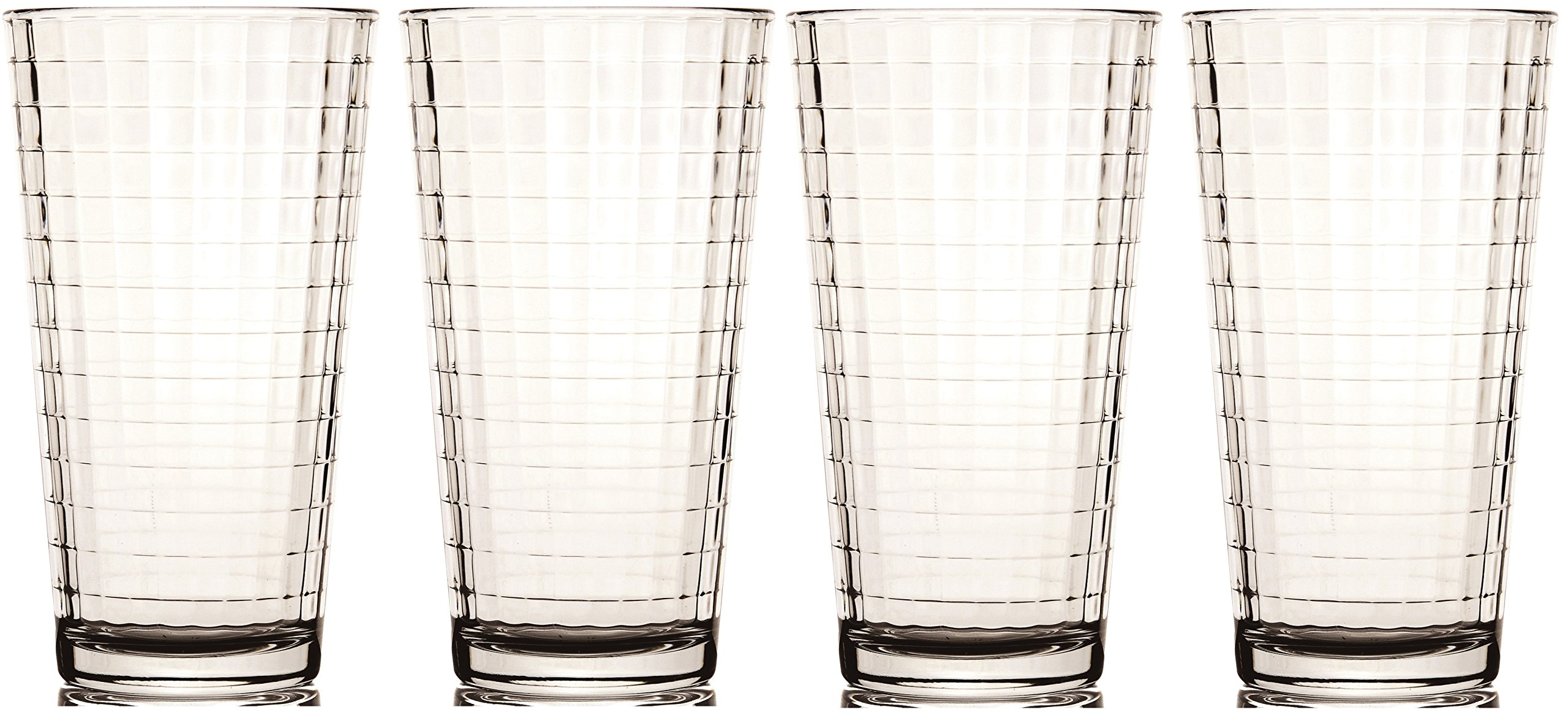 Circleware Windowpane Drinking Glasses, 17 Ounce, Set of 4
