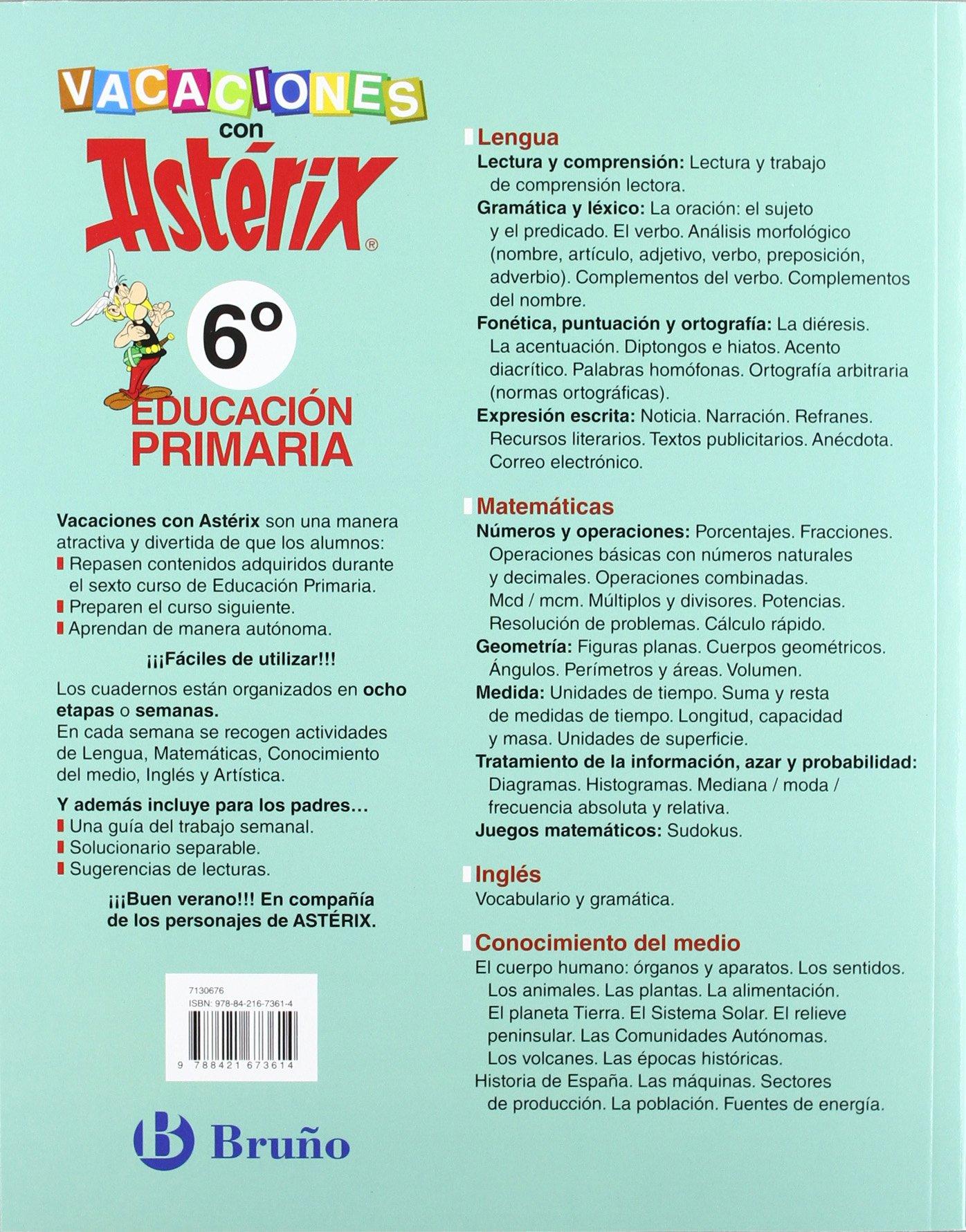 Vacaciones con Astérix 6º Primaria Castellano - Material Complementario - Vacaciones Primaria - 9788421673614: Amazon.es: Mónica Bofarull Jardí, ...