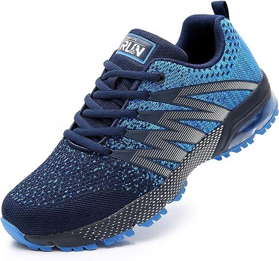 AZOOKEN Hombre Mujer Zapatillas de Gimnasia Running Zapatos Deportivos Aire Libre y Deporte Respirable Sneakers para: Amazon.es: Zapatos y complementos
