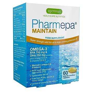 Pharmepa MAINTAIN - Omega-3 EPA y DHA aceite de pescado salvaje, con ...