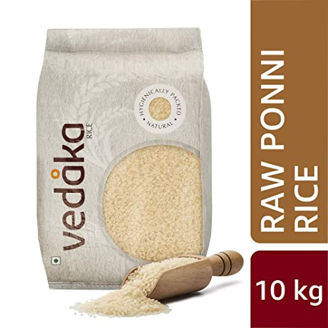 Amazon Brand - Vedaka Ponni Rice, Raw, 10kg