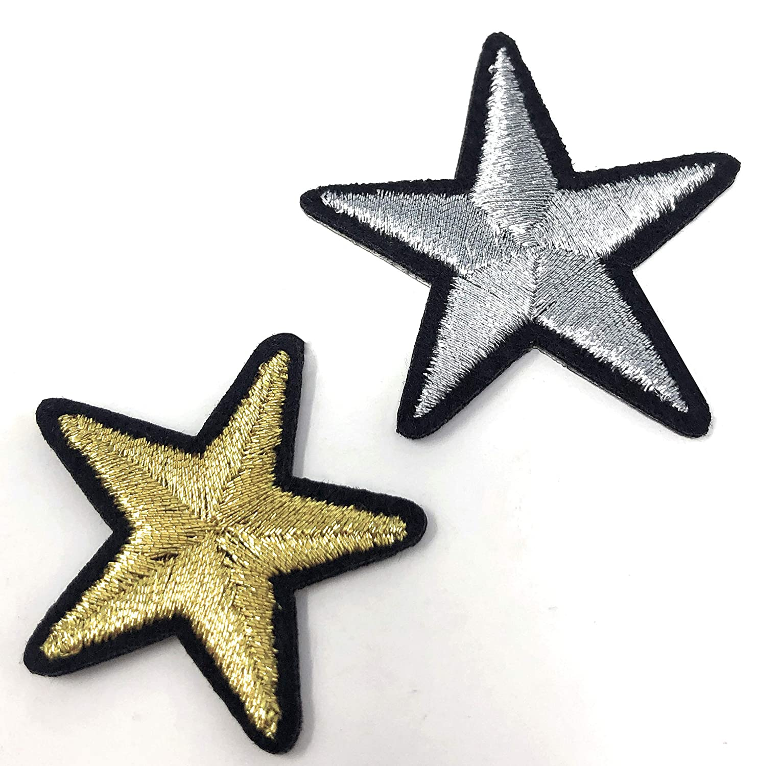 Shoes Hats Rusoji 25Pcs Multi-Color Star Iron-On//Sew-On Embroidered Applique Badge Patch for DIY Clothing Projects T-Shirt Jeans and Bags Jacket