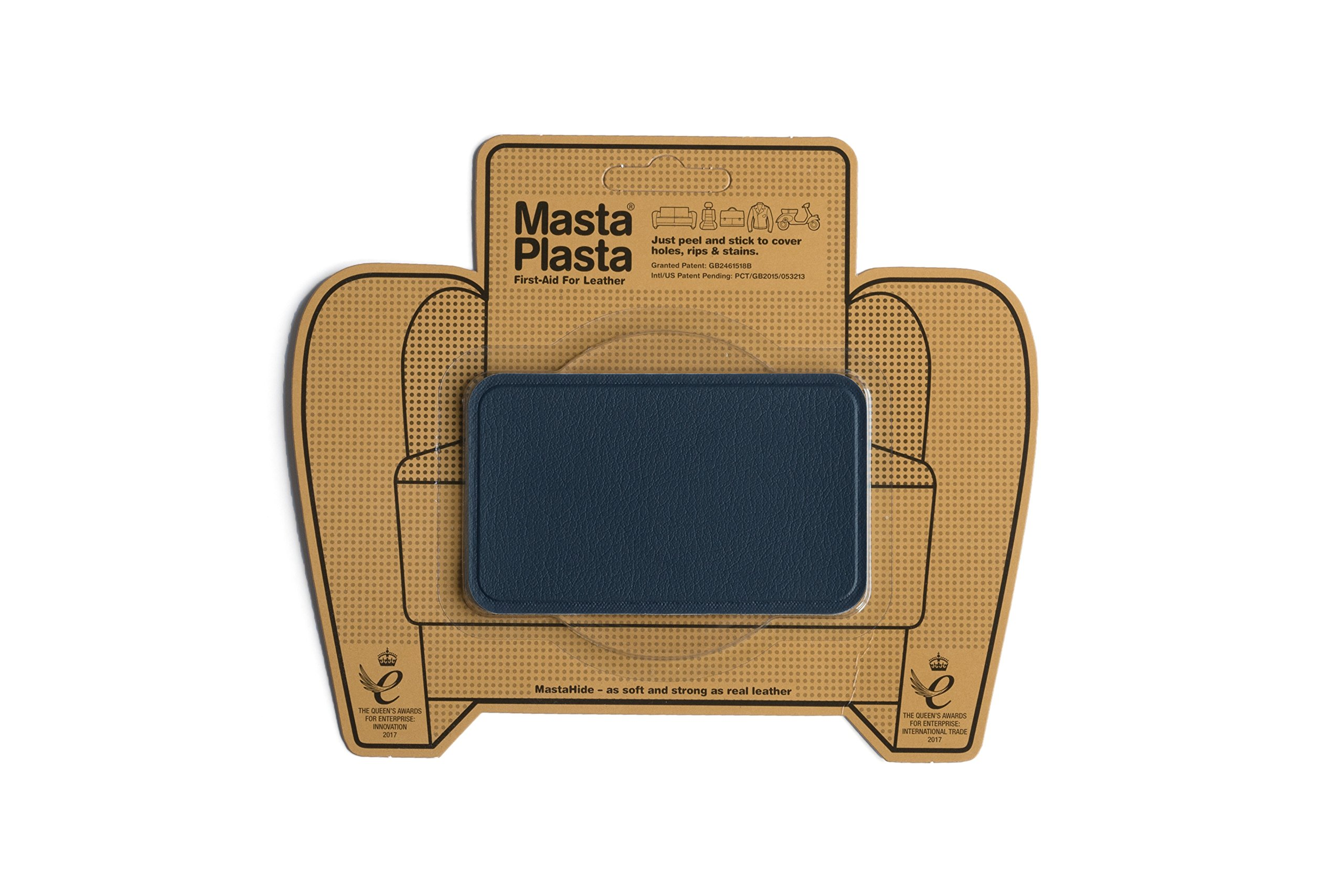 MastaPlasta Self-Adhesive Patch for Leather and Vinyl Repair, Medium, Navy– Multiple Colors Available