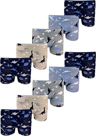 LOREZA ® 10 Pack niños Calzoncillos Boxer Calzoncillos Motivo Dino Calzoncillos de algodón Calzoncillos niños niños