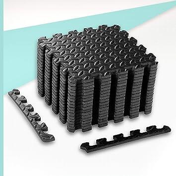 Suaves entrelazadas Colchonetas de Fitness Juego de 20 Piezas 30 x 30 cm Esterilla Puzzle para Suelos de Gimnasio Juego de Alfombrillas de Espuma EVA para ni/ños Impermeables