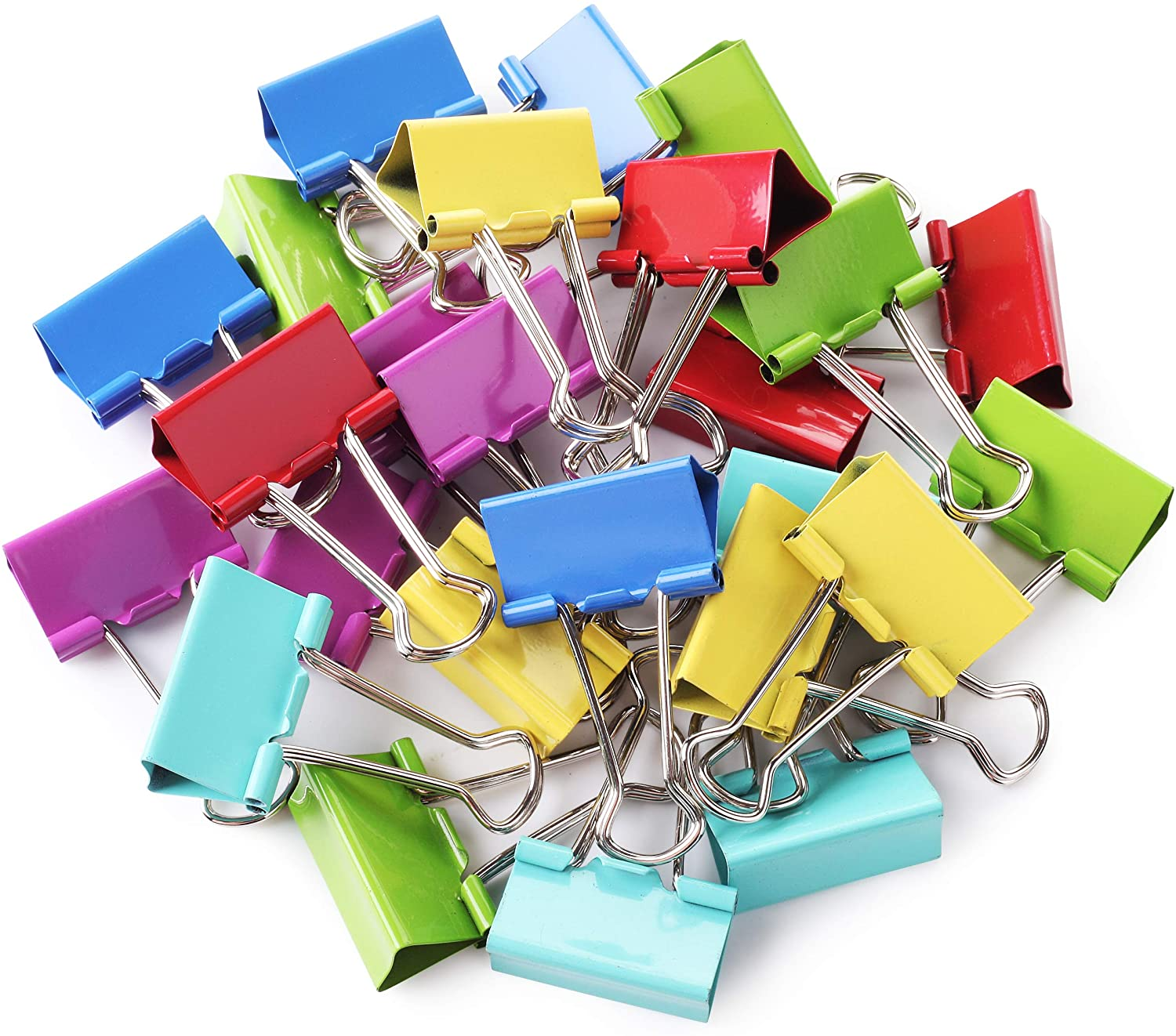 Mr. Pen- Binder Clips, Colored Binder Clips, 1.25 inch, 25 Pack, Medium, Color Binder Clips, Clips, Paper Clips, Binder Clip, Clips for Paperwork, Binder Clips Medium Size, Office Clips